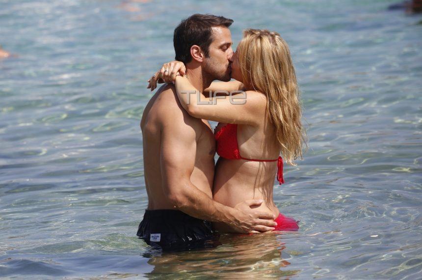 Χριστίνα Αλούπη: «Καυτά» φιλιά στη θάλασσα με τον σύζυγό της! [pics] | tlife.gr
