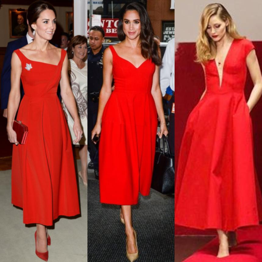 Οι σταρ επιλέγουν κόκκινο cocktail φόρεμα