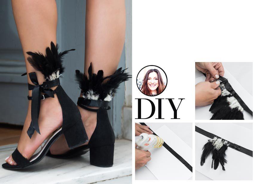 DIY: Πως να φτιάξεις μόνη σου τα ultra stylish πέδιλα με φτερά που είδαμε στον Saint Laurent | tlife.gr