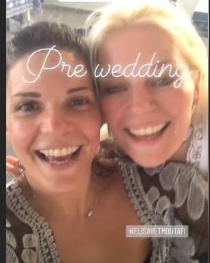 Eλισάβετ Μουτάφη: Τραγούδησε με την κουμπάρα της στο pre – wedding party! video | tlife.gr