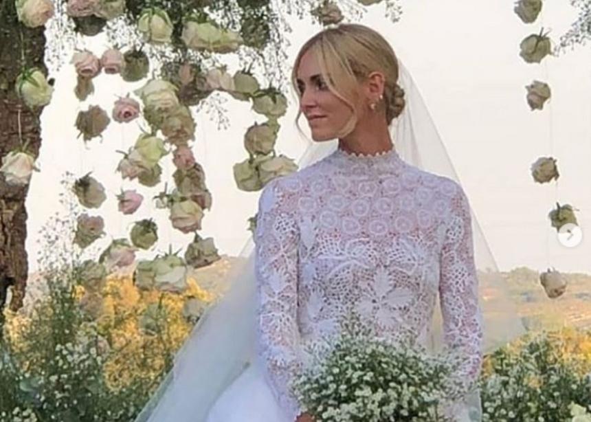 Η Chiara Ferrangi παντρεύτηκε και επιτέλους είδαμε το Haute Couture νυφικό της