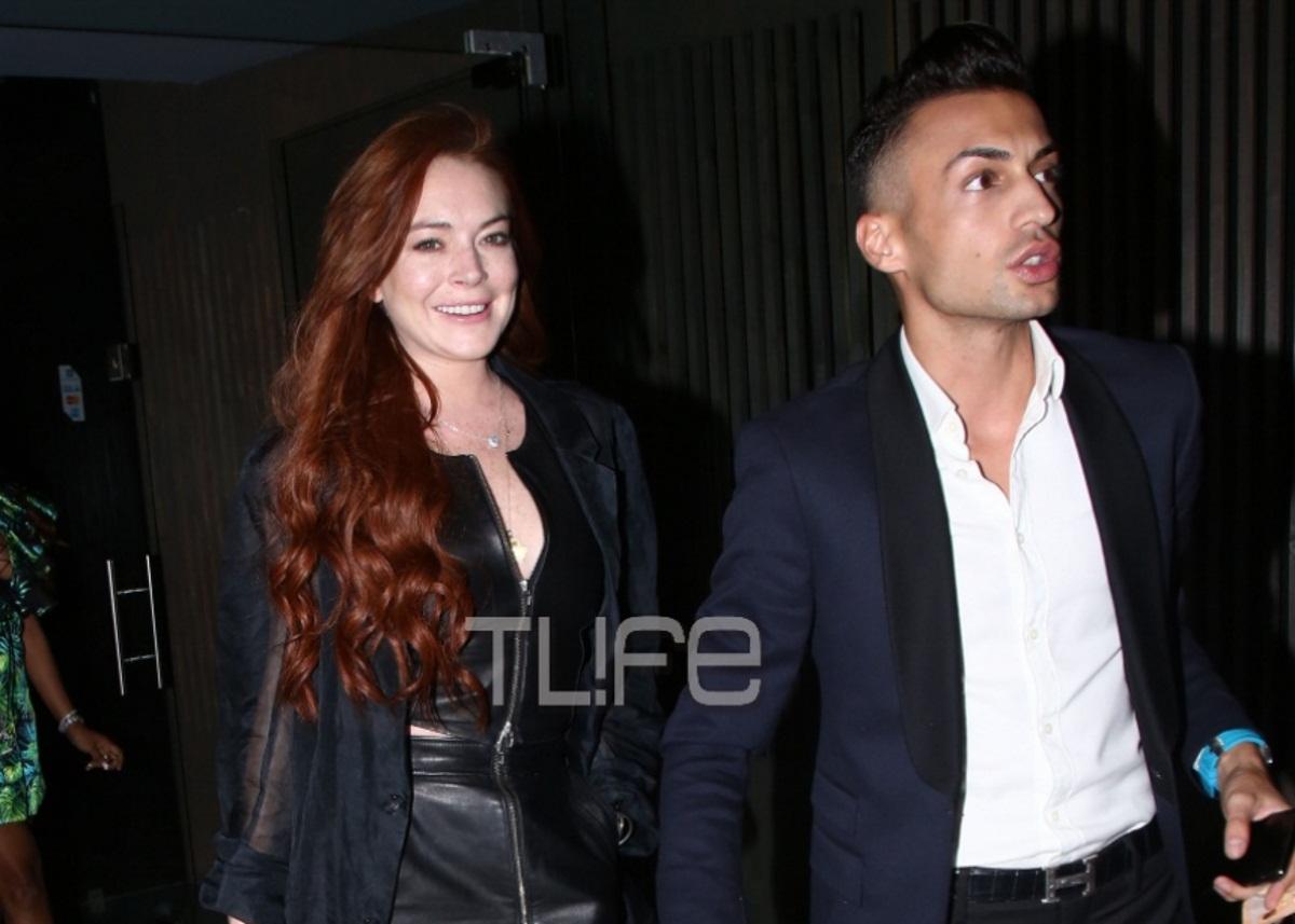 Lindsay Lohan: Τα «έσπασε» στον Κωνσταντίνο Αργυρό με σέξι outfit! [pics] | tlife.gr