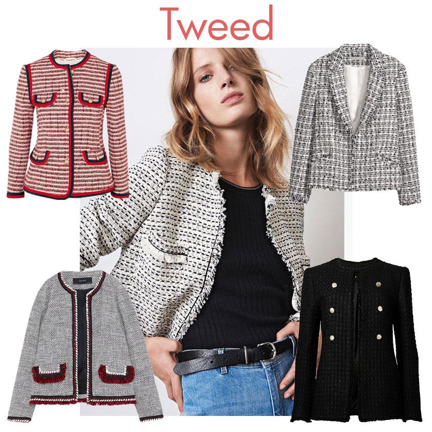 8ae2171eb9 Η πρώτη που σχεδίασε τα tweed σακάκια ήταν η Coco Chanel. Από τότε μπήκαν  στη ζωή μας και πλέον δεν λείπουν από καμία χειμερινή σεζόν.