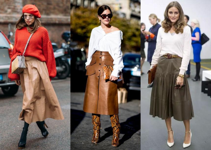 Πολλές από εμάς έχουμε στην ντουλάπα μας μια δερμάτινη full skirt. Ευθύς  αμέσως θα σου δείξω τρεις τρόπους για να τη φορέσεις φέτος το χειμώνα. 4d0bcb44428