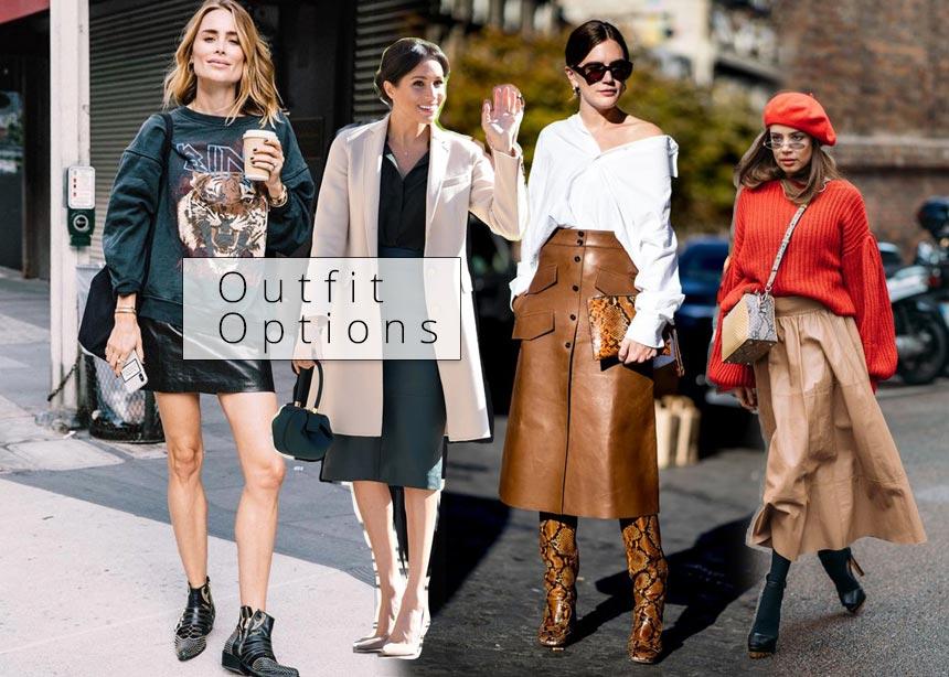 Δερμάτινη φούστα  Στιλιστικές συμβουλές και ιδέες για να τη φορέσεις κάθε  ώρα και σε κάθε περίσταση 3672308d7c3
