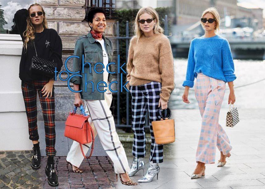Καρό παντελόνι: Πάρε έμπνευση και συνδύασέ το όπως τα it girls του εξωτερικού | tlife.gr