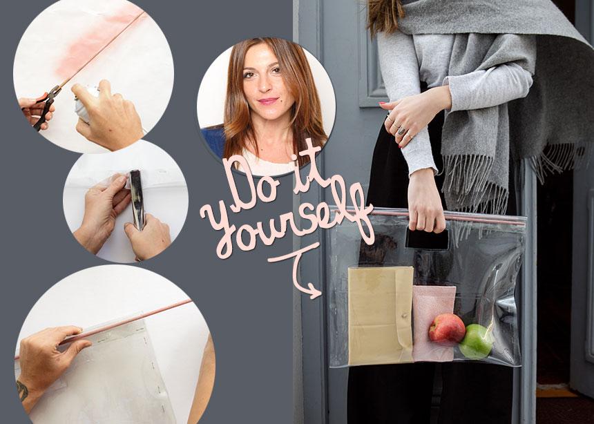 DIY: Φτιάξε μόνη σου μια oversized και stylish τσάντα από πλαστικό υλικό | tlife.gr