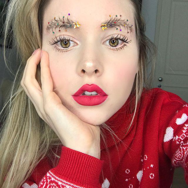 Christmas tree eyebrows: το trend που βλέπουμε παντού στο instagram!   tlife.gr