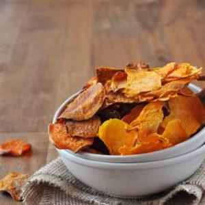 Τραγανά chips γλυκοπατάτας