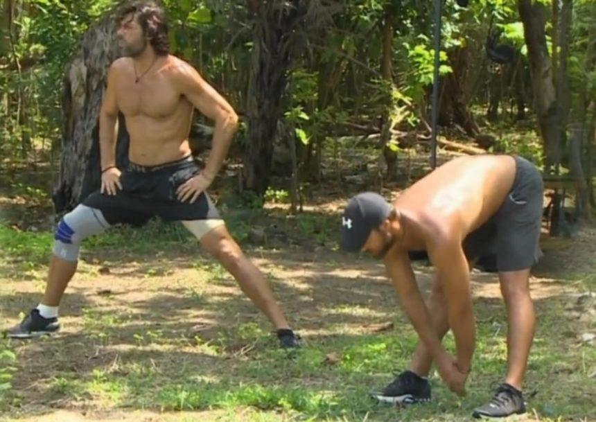 Nomads: Σπαλιάρας-Παπαργυρόπουλος κάνουν ζέσταμα ημίγυμνοι πριν το αποψινό αγώνισμα επικράτειας και… κόβουν ανάσες! [video] | tlife.gr