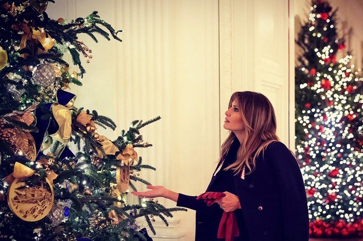 Μελάνια Τραμπ: Στολισμός – υπερπαραγωγή στον Λευκό Οίκο για τα Χριστούγεννα! [pics,vid] | tlife.gr