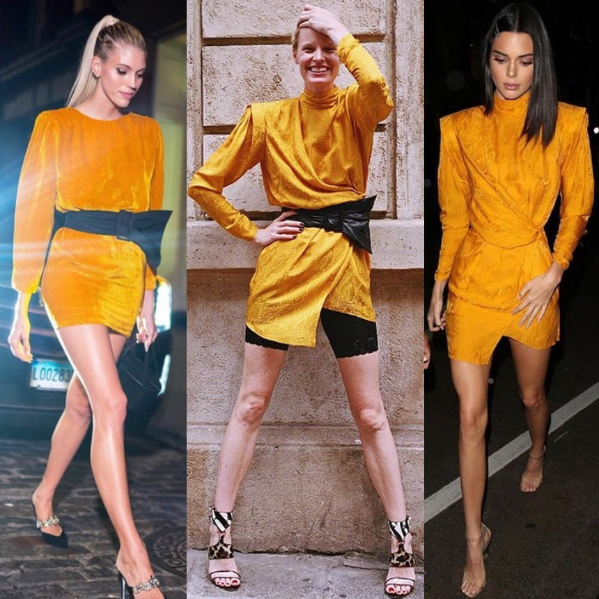Οι σταρ επιλέγουν μίνι κίτρινο φόρεμα | tlife.gr