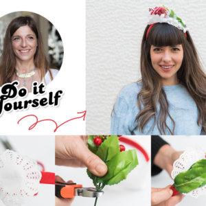Η Πόπη Αναστούλη σου δείχνει πως να φτιάξεις ένα χριστουγεννιάτικο headpiece για τα γιορτινά σου looks