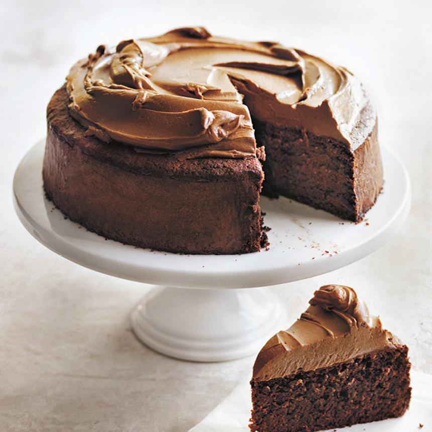 Βασιλόπιτα με σοκολάτα και frosting κακάο