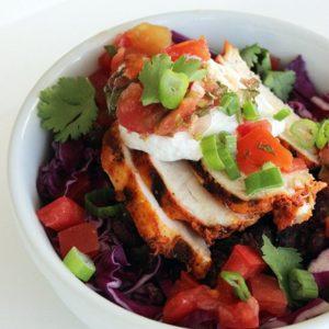Burrito bowl με κοτόπουλο