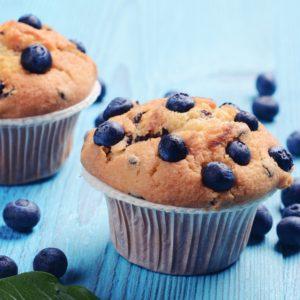 Muffins με blueberries χωρίς ζάχαρη