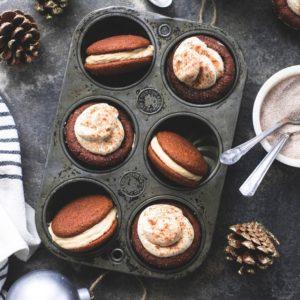 Γεμιστά μπισκότα gingerbread και gingerbread muffins με κρέμα τυριού