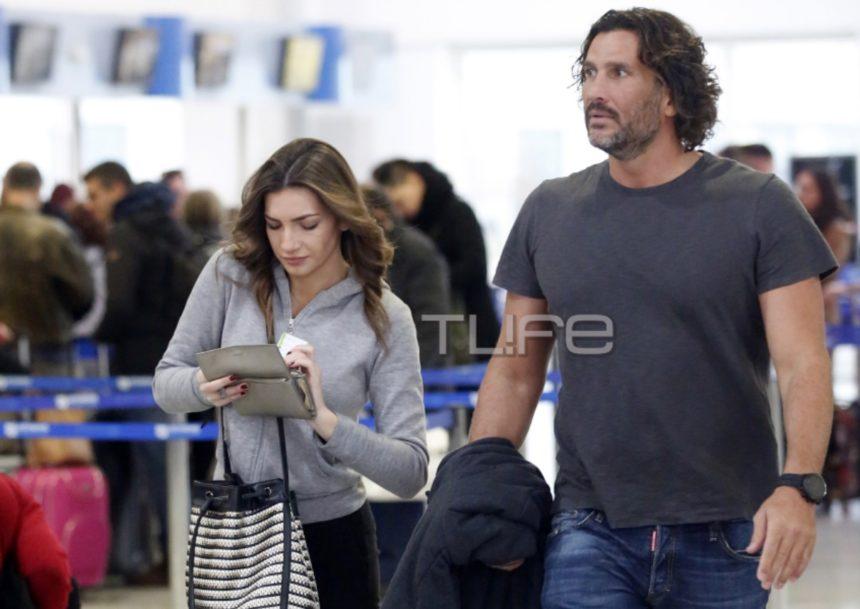 Κώστας Κοκκινάκης: Στο αεροδρόμιο με την σύντροφό του, λίγο πριν τη ρομαντική τους απόδραση στην Αγγλία! [pics]   tlife.gr