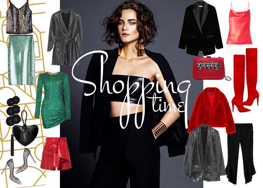 Γιορτινές εμφανίσεις: Sequin, κόκκινα και μαύρα fashion items για να εντυπωσιάσεις