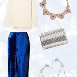 Η lux sequin φούστα