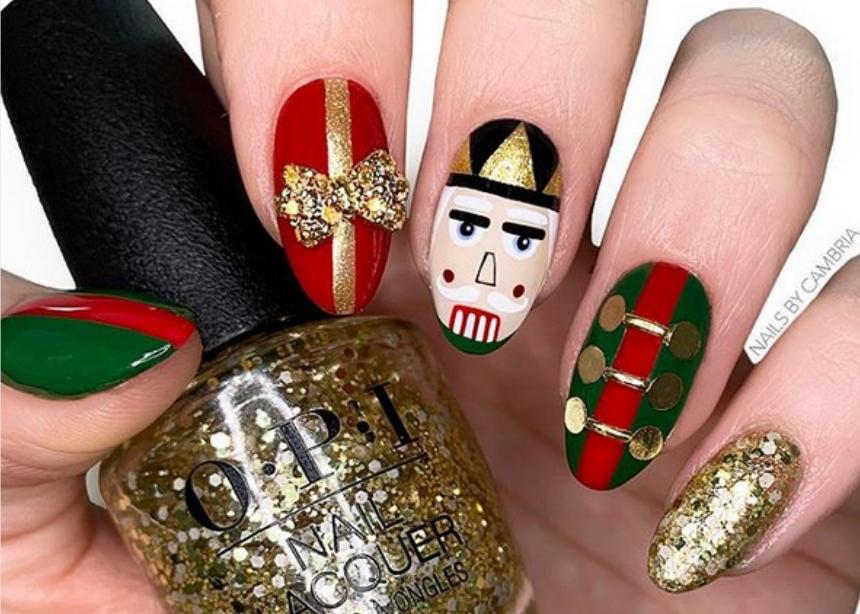 Nutcracker nail art: το μανικιούρ που θα σε κάνει να νιώσεις Χριστούγεννα!