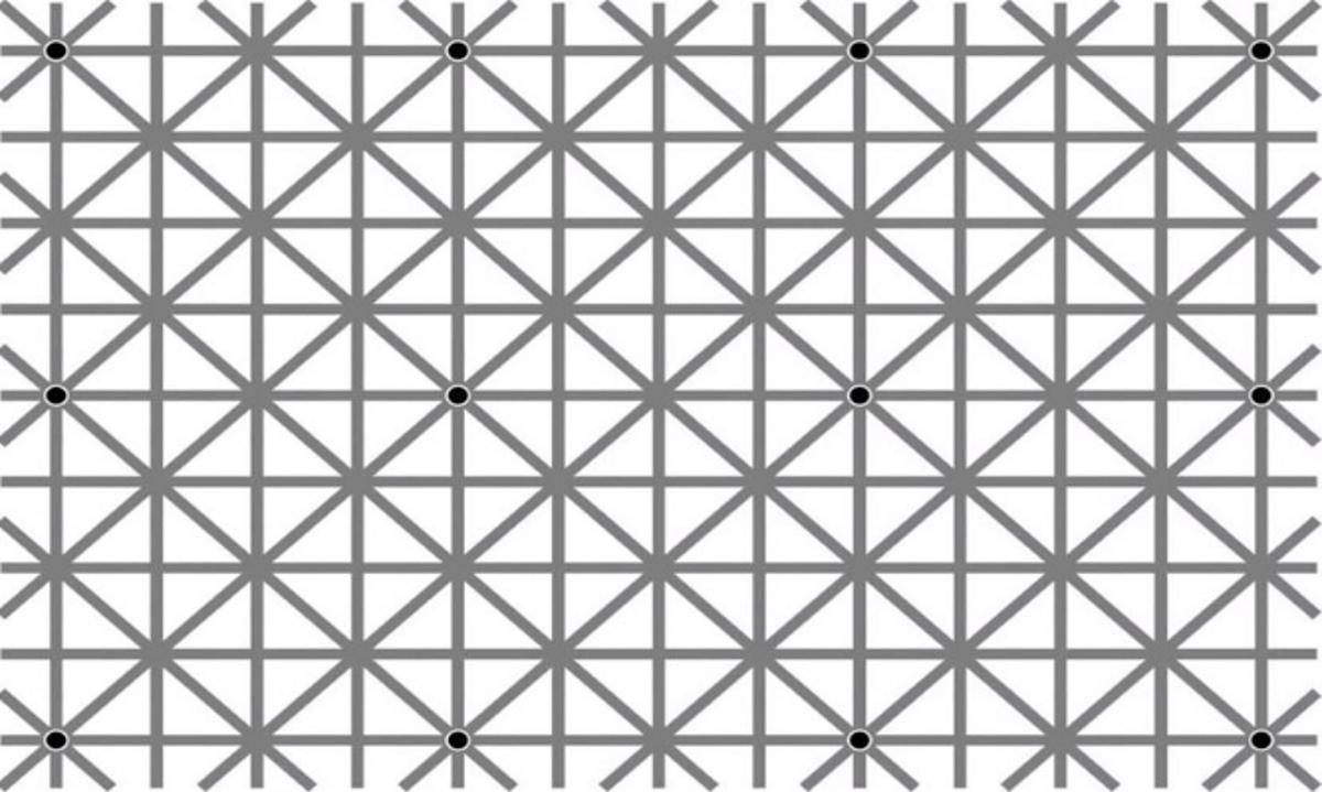 Η φωτό έχει 12 μαύρες τελείες, αλλά δεν τις βλέπετε ταυτόχρονα. Γιατί; Η εξήγηση σε 6 οφθαλμαπάτες [vid]   tlife.gr