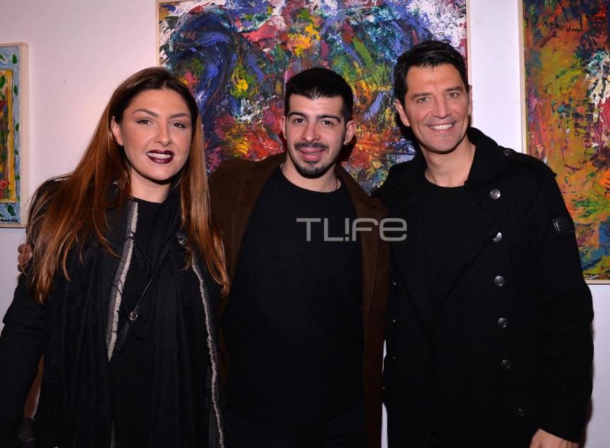 Άγγελος Παπαδόπουλος: Όλη η showbiz στην έκθεση ζωγραφικής του γιου του Λάκη Παπαδόπουλου! Φωτογραφίες | tlife.gr