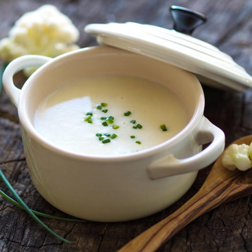 Βελουτέ σούπα με κουνουπίδι