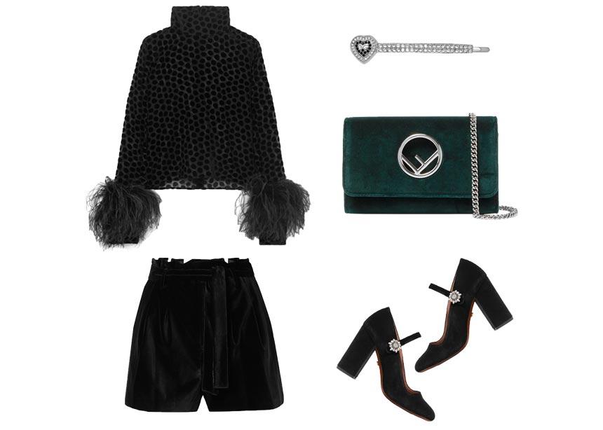 Βελούδινα ρούχα και αξεσουάρ για stylish looks τις βραδινές ώρες
