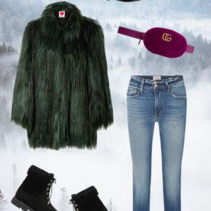 Η lux γούνα με jean