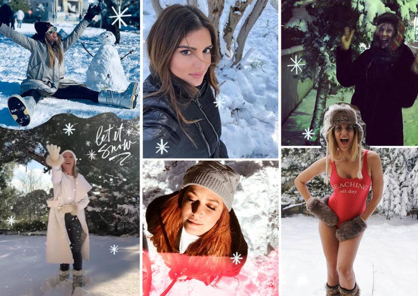 Χιόνια στην Αθήνα! Οι celebrities απόλαυσαν την «άσπρη» μέρα σαν μικρά παιδιά [pics] | tlife.gr