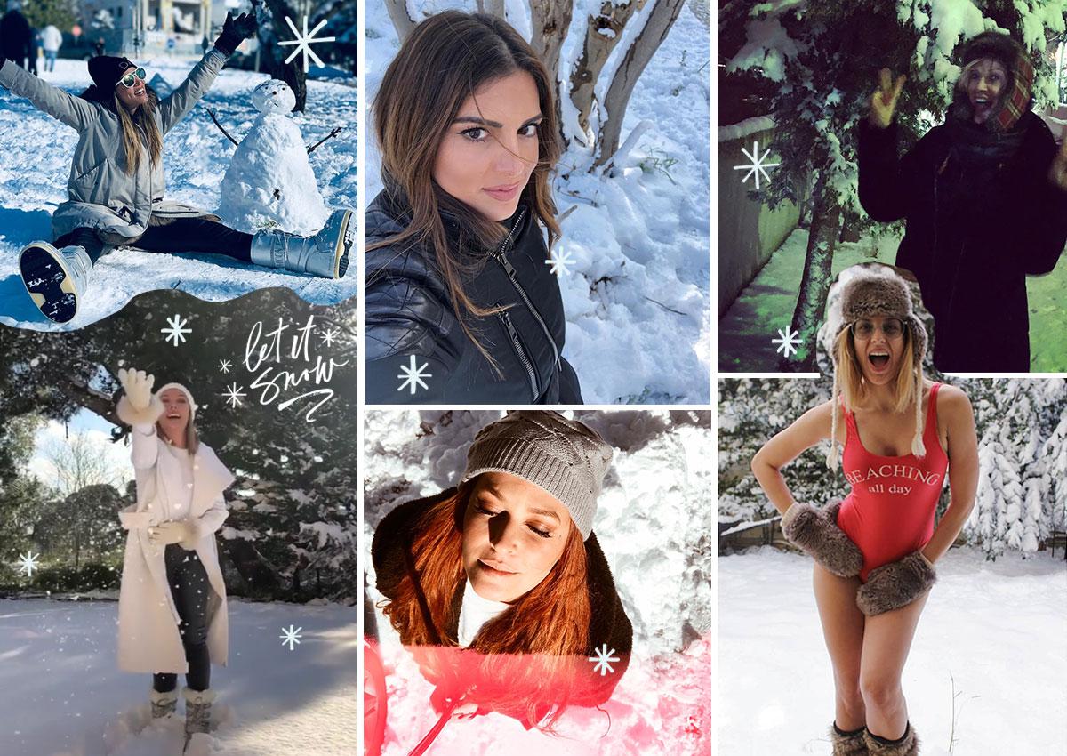 Χιόνια στην Αθήνα! Οι celebrities απόλαυσαν την «άσπρη» μέρα σαν μικρά παιδιά [pics]   tlife.gr