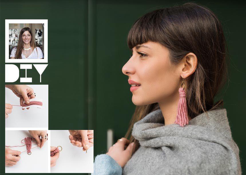 DIY: Βήμα – βήμα πως να φτιάξεις ένα ζευγάρι stylish σκουλαρίκια μέσα σε 5 λεπτά   tlife.gr