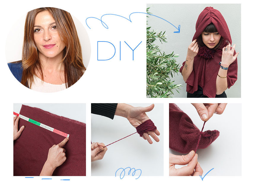 DIY: Βήμα – βήμα πως να φτιάξεις μια κάπα με κουκούλα | tlife.gr