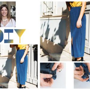 Η Πόπη Αναστούλη σου δείχνει πως να φτιάξεις την stylish φούστα που φορούν όλα τα κορίτσια στο pinterest
