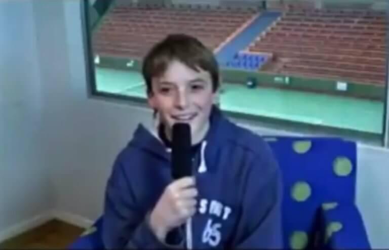 Ο… 13χρονος Τσιτσιπάς μιλάει για τον Φέντερερ και την κορυφή! video | tlife.gr