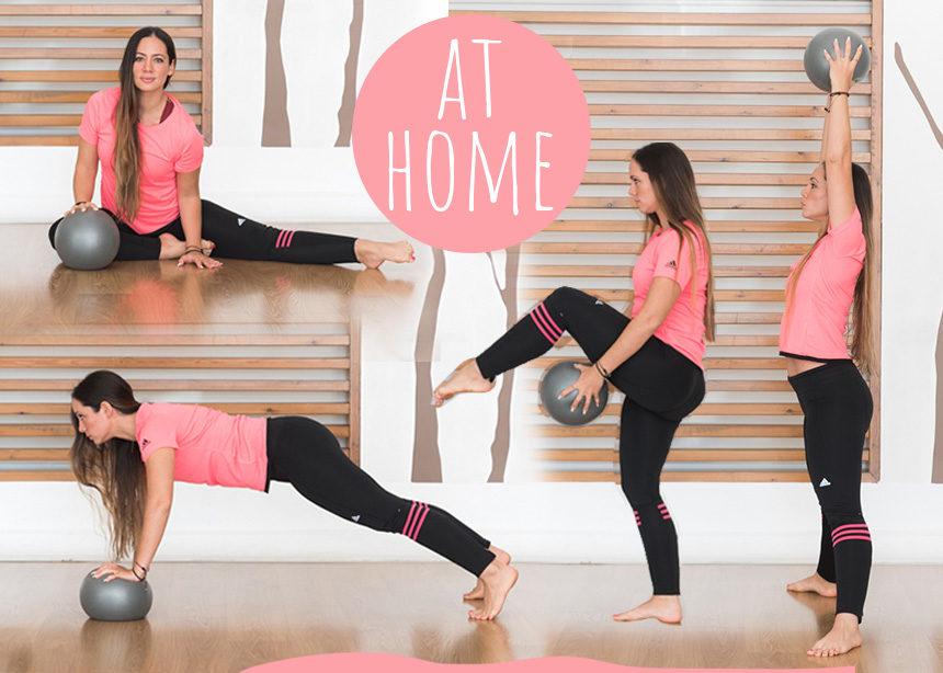 Γυμναστική στο σπίτι: Αερόβιες ασκήσεις με μπάλα για να χάσεις λίπος και τα περιττά κιλά | tlife.gr
