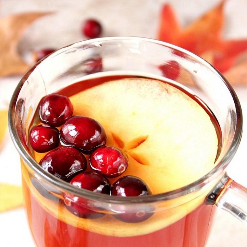 Ρόφημα με μήλο και κράνα