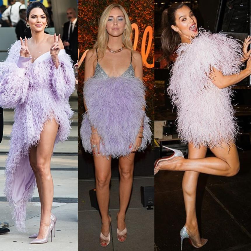 Οι σταρ επιλέγουν feather mini φόρεμα
