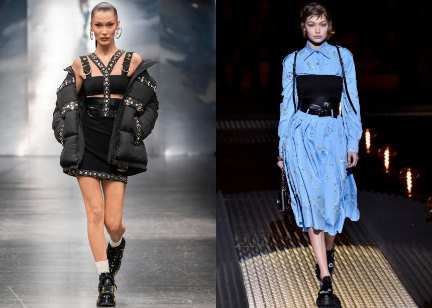 Versace – Prada: Τα γυναικεία looks που παρουσίασαν στην ανδρική Εβδομάδα Μόδας