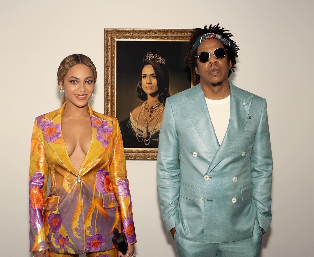 Beyonce – Jay Z: Ποζάρουν με το πορτραίτο της… Meghan Markle!   tlife.gr