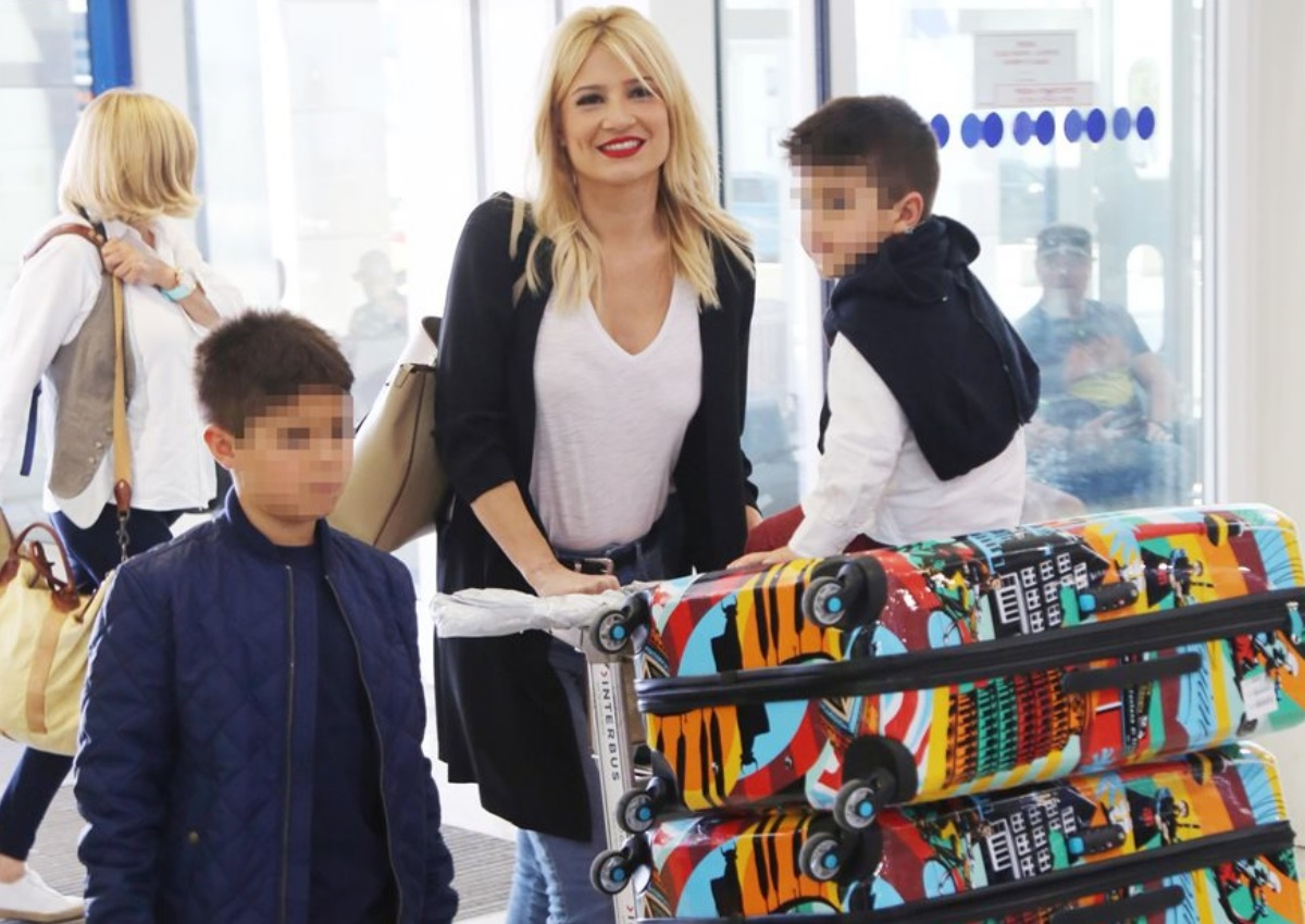 Φαίη Σκορδά: Απόδραση εκτός Αττικής με τους γιους της, Γιάννη και Δημήτρη! (pic)