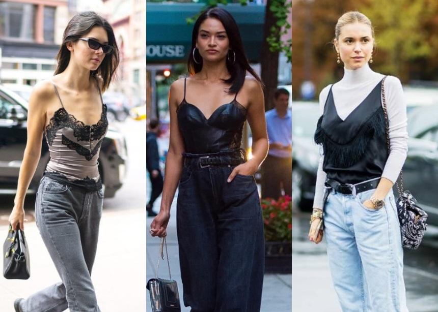 Τζιν + lingerie top: Ο casual chic συνδυασμός που αγαπούν τα μοντέλα, οι influencers… κι εμείς!