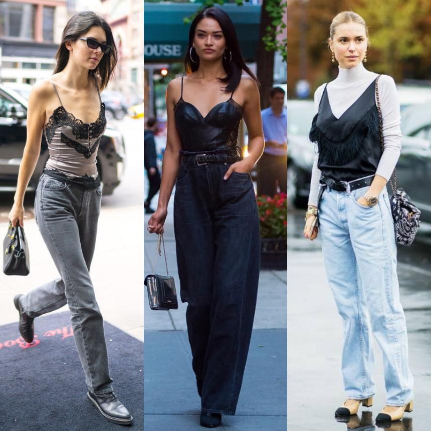 Οι stars επιλέγουν τζιν + lingerie top