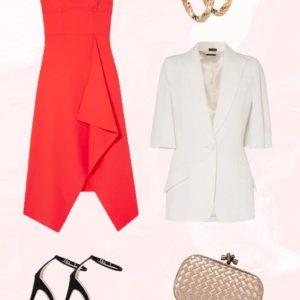 To lux κόκκινο φόρεμα