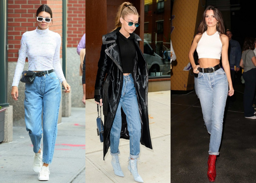 Τρία supermodels σου δείχνουν πως να φορέσεις το mom jeans αυτήν την εποχή