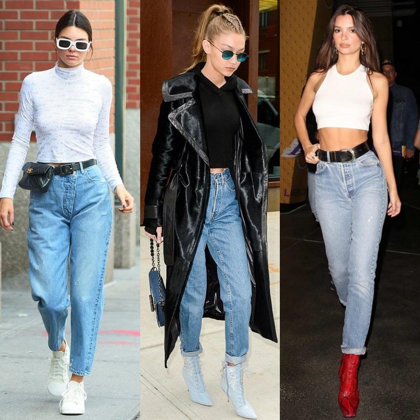 Οι stars επιλέγουν mom jeans