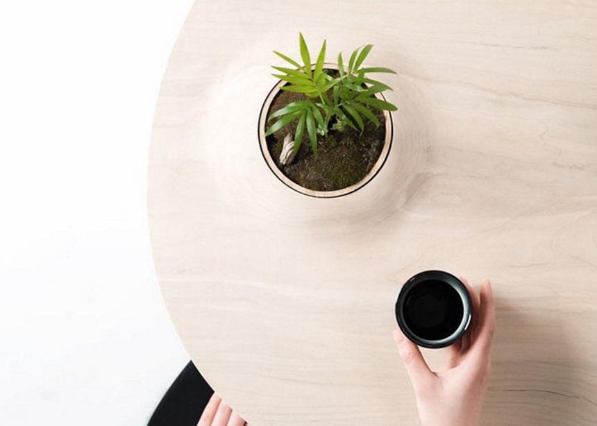 """Pokopoko table: Το τραπέζι που φτιάχτηκε για να """"φιλοξενεί""""… τα φυτά σου!"""
