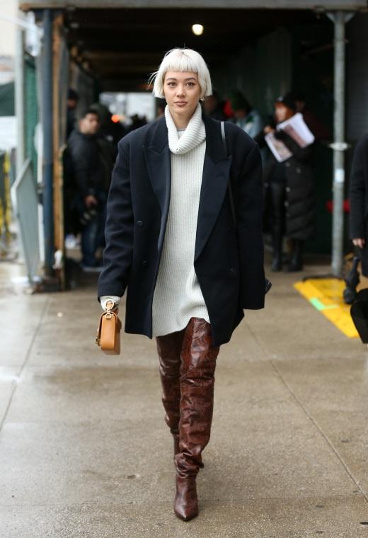 Νέα Υόρκη με slouchy boots