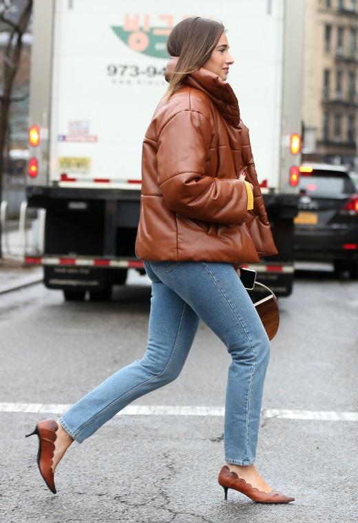 Νέα Υόρκη με puffer jacket